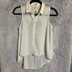 XS cream button up blouse